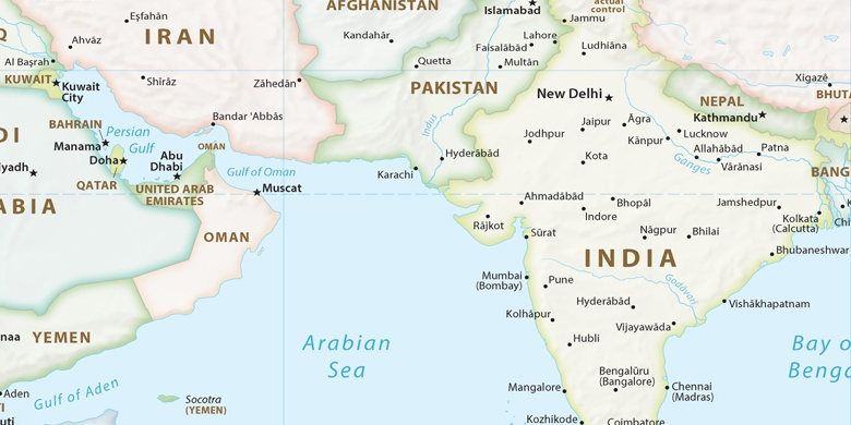karte der vereinigten emirate