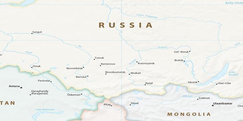 Nowosibirsk Auf Der Karte