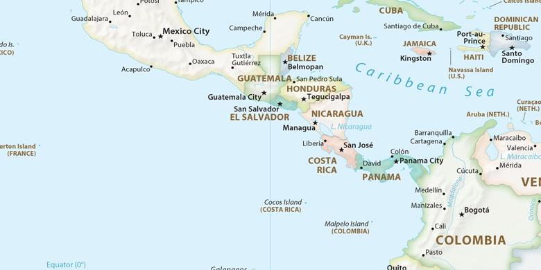 Managua Auf der Karte
