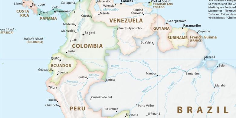 Manaus Auf der Karte
